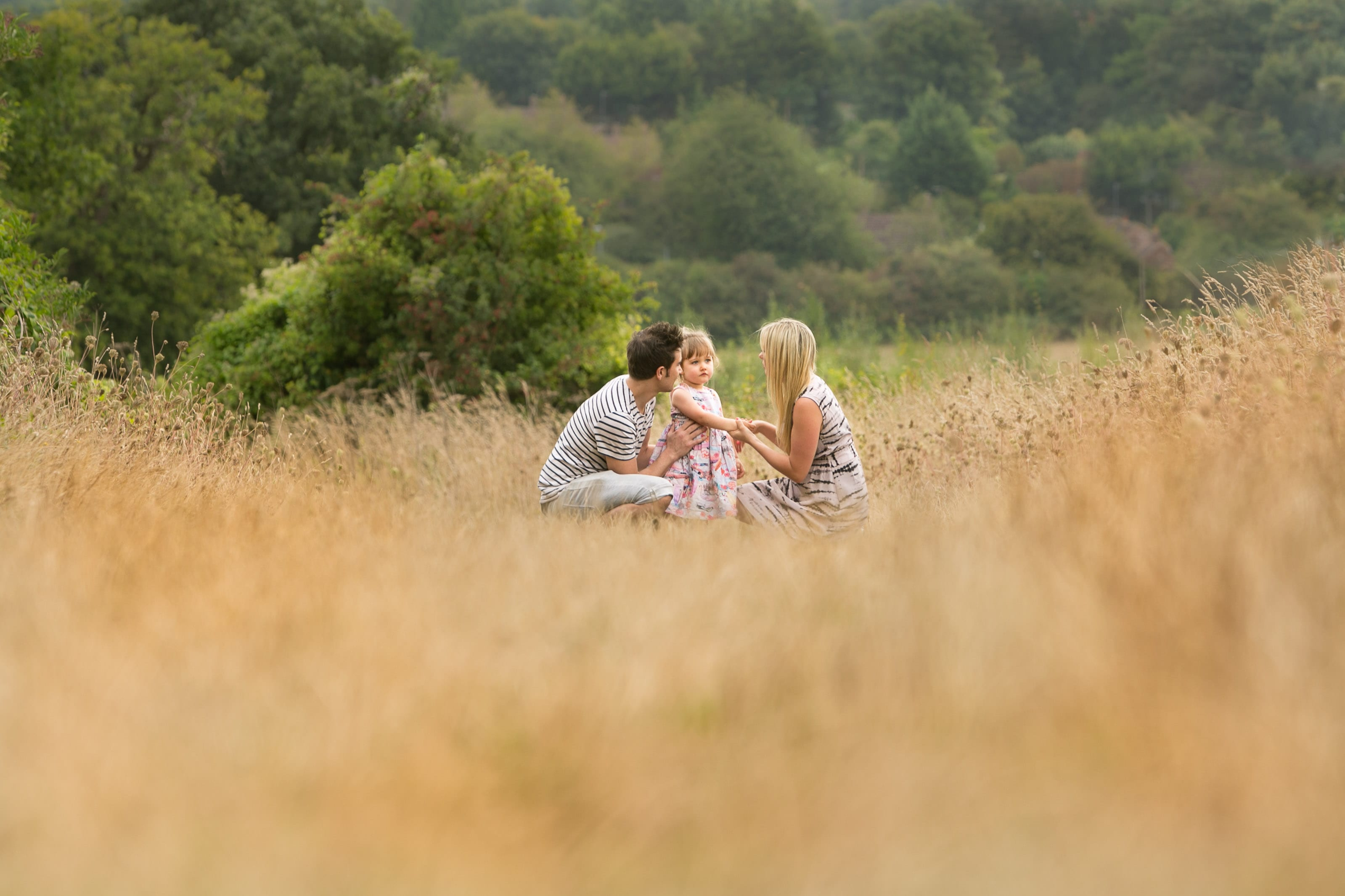 family in grasses
