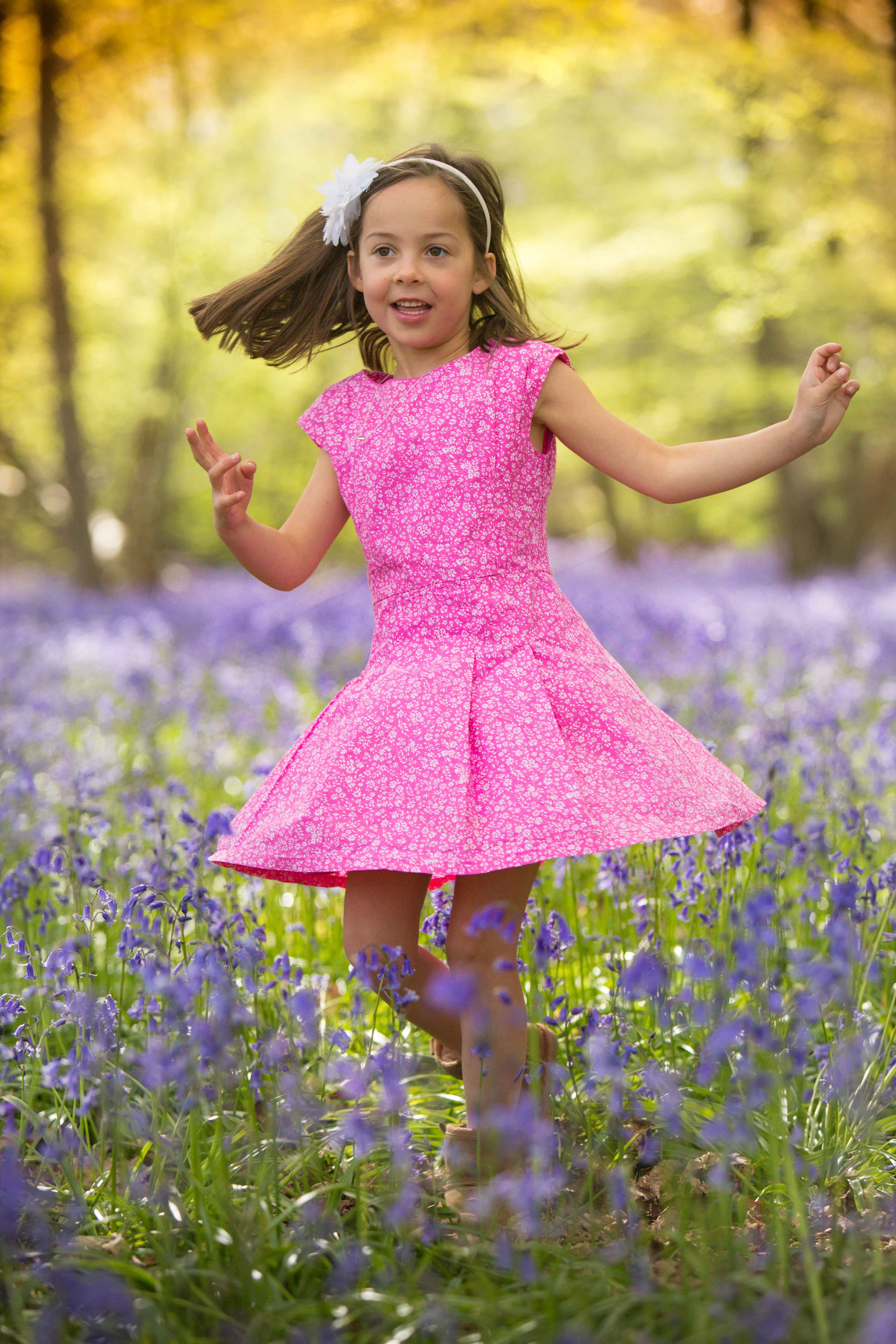 family photoshoot photographer St Albans Harpenden Hitchin bluebells