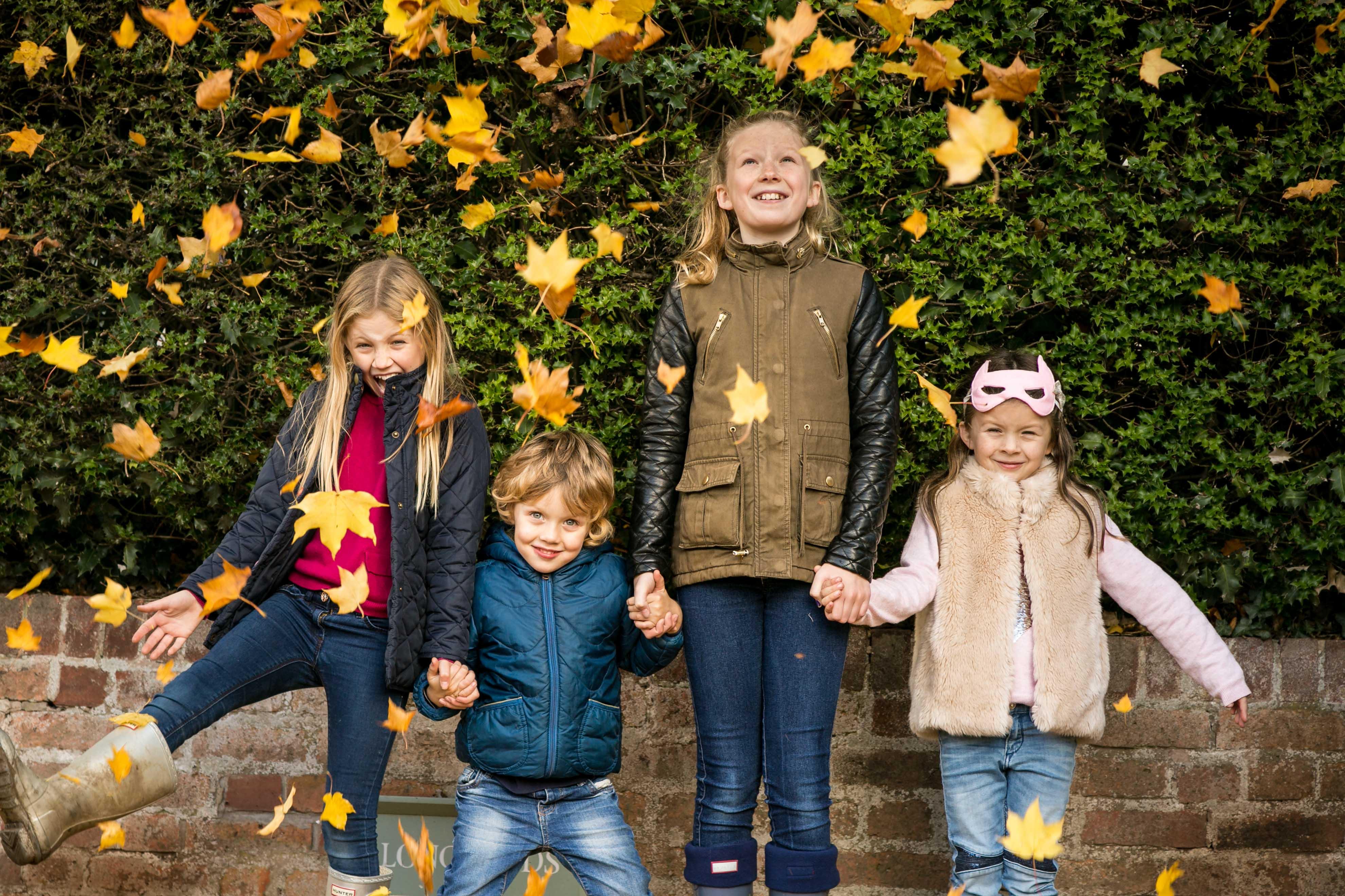 family photoshoot photographer St Albans Harpenden Hitchin autumn