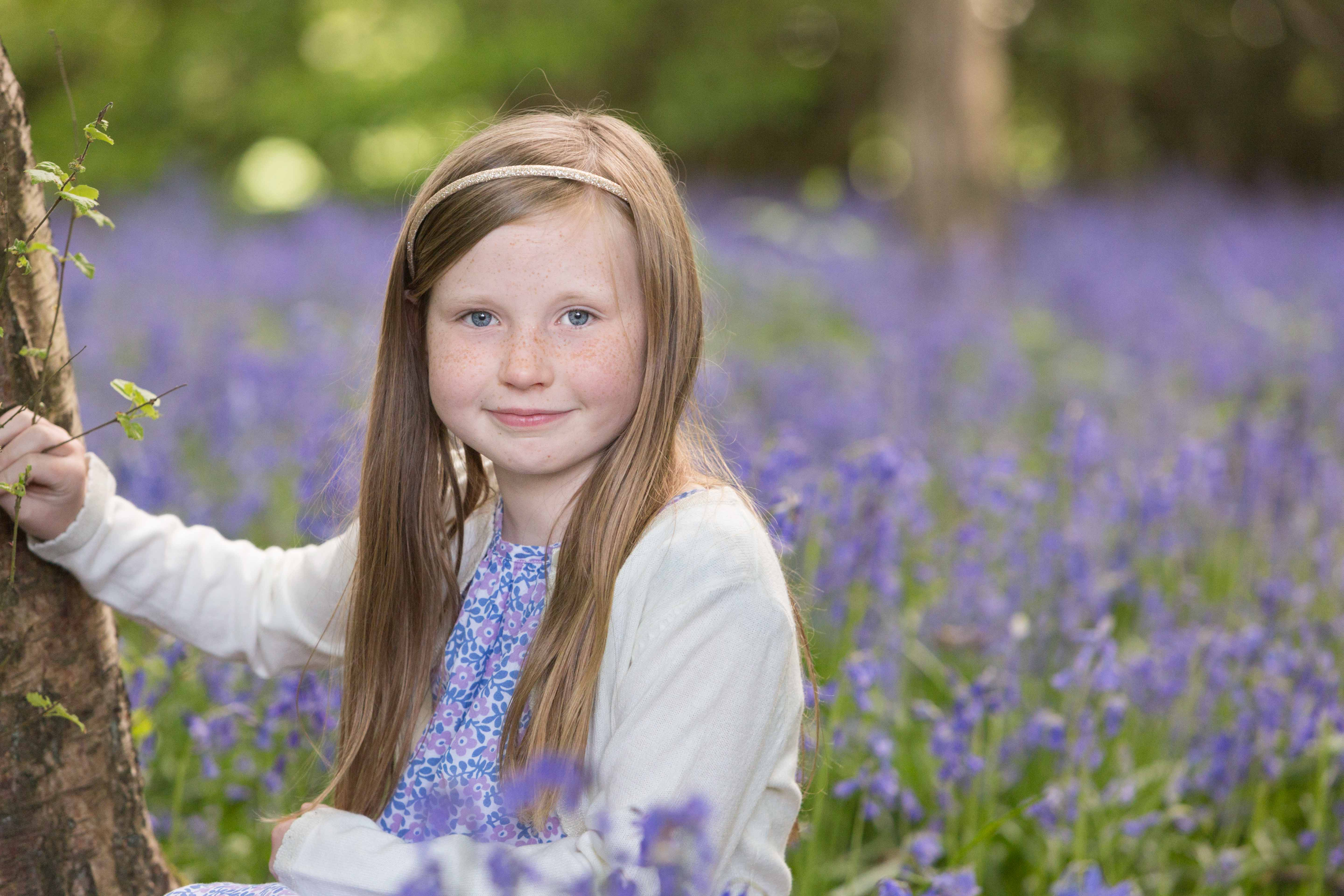 girl bluebells