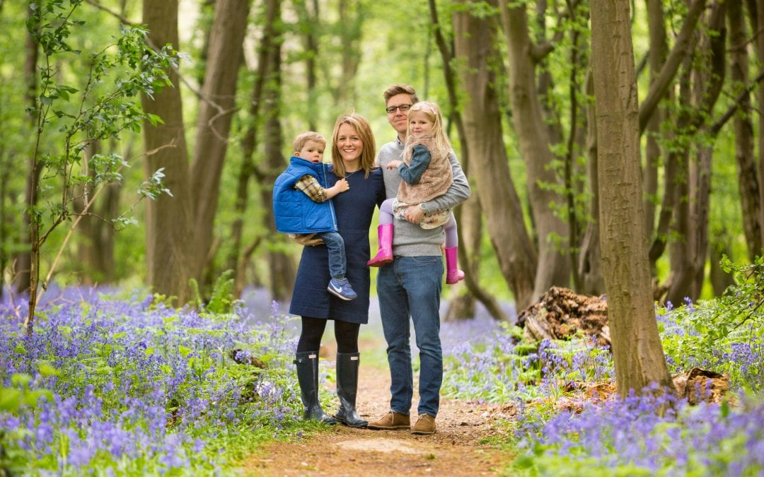 Bluebell photoshoots in the woods