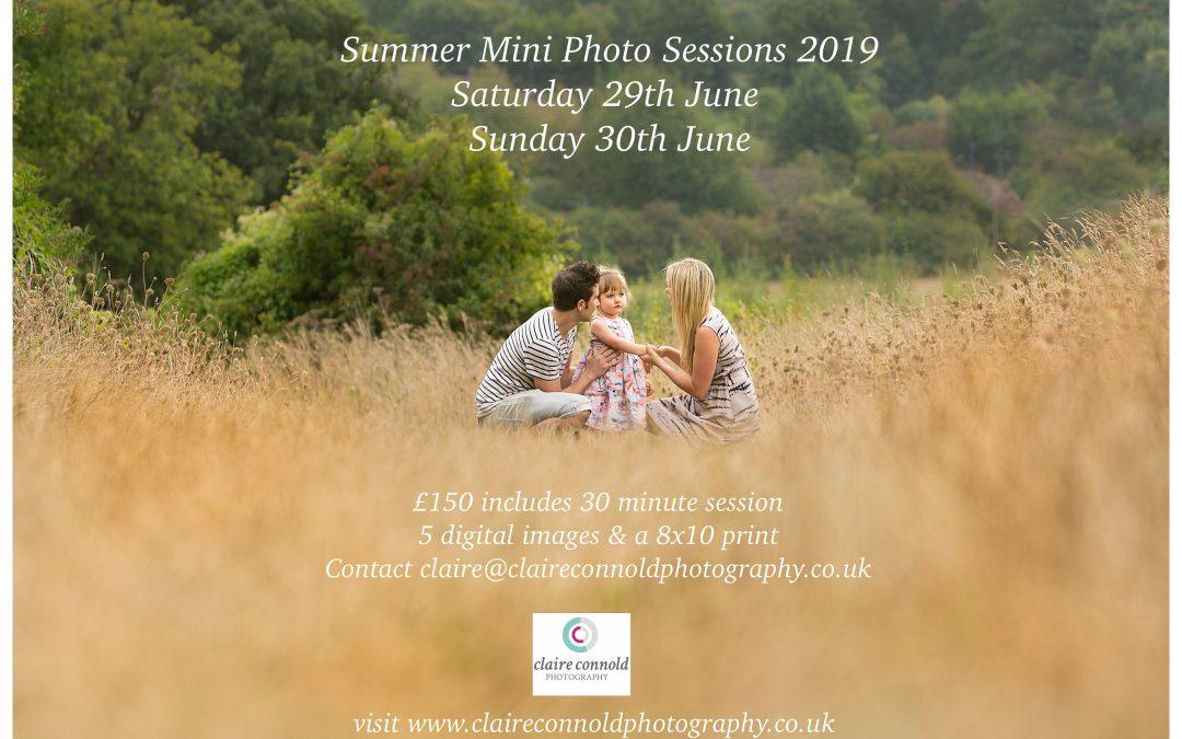 Summer Mini Photo sessions