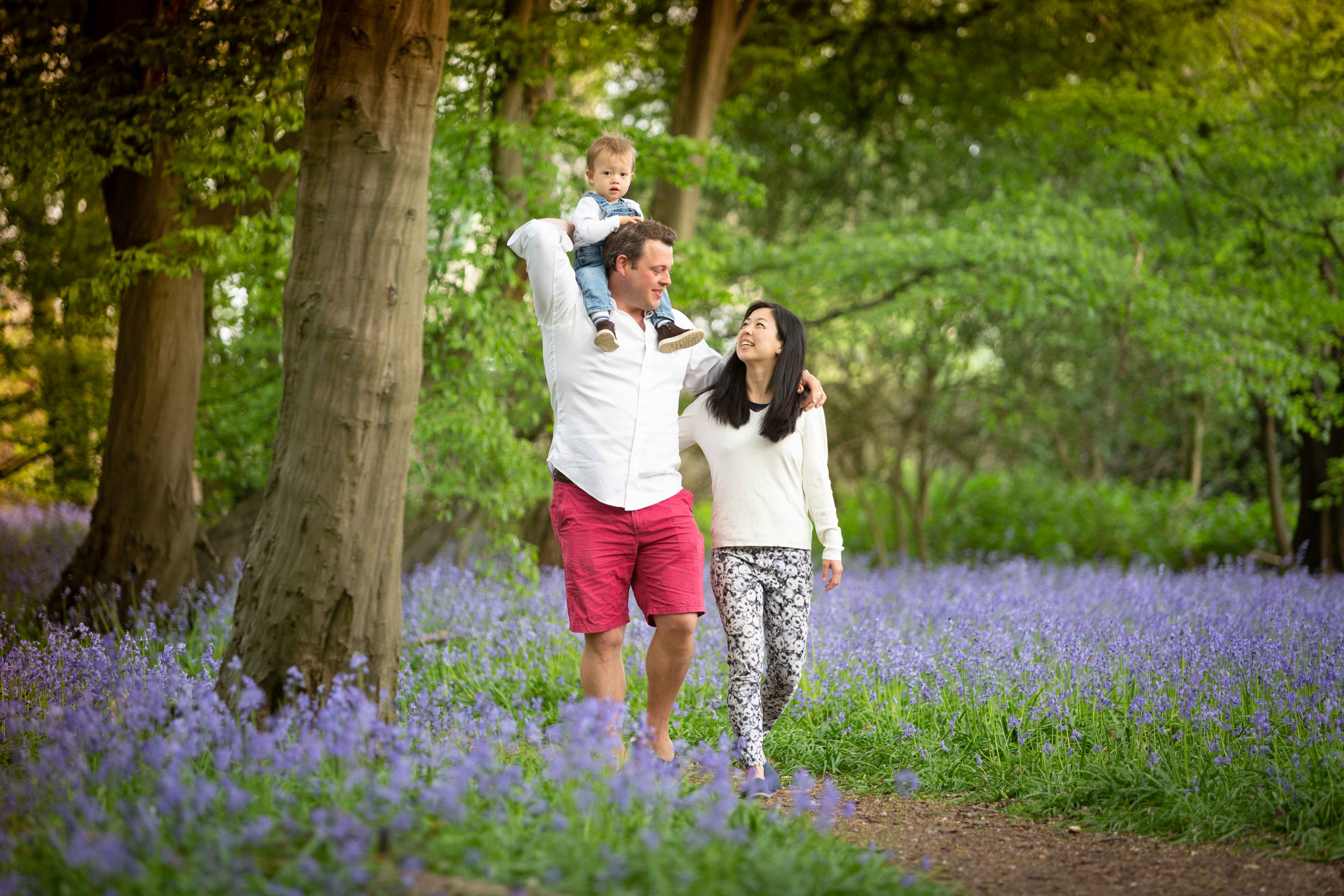 family bluebells St Albans photography