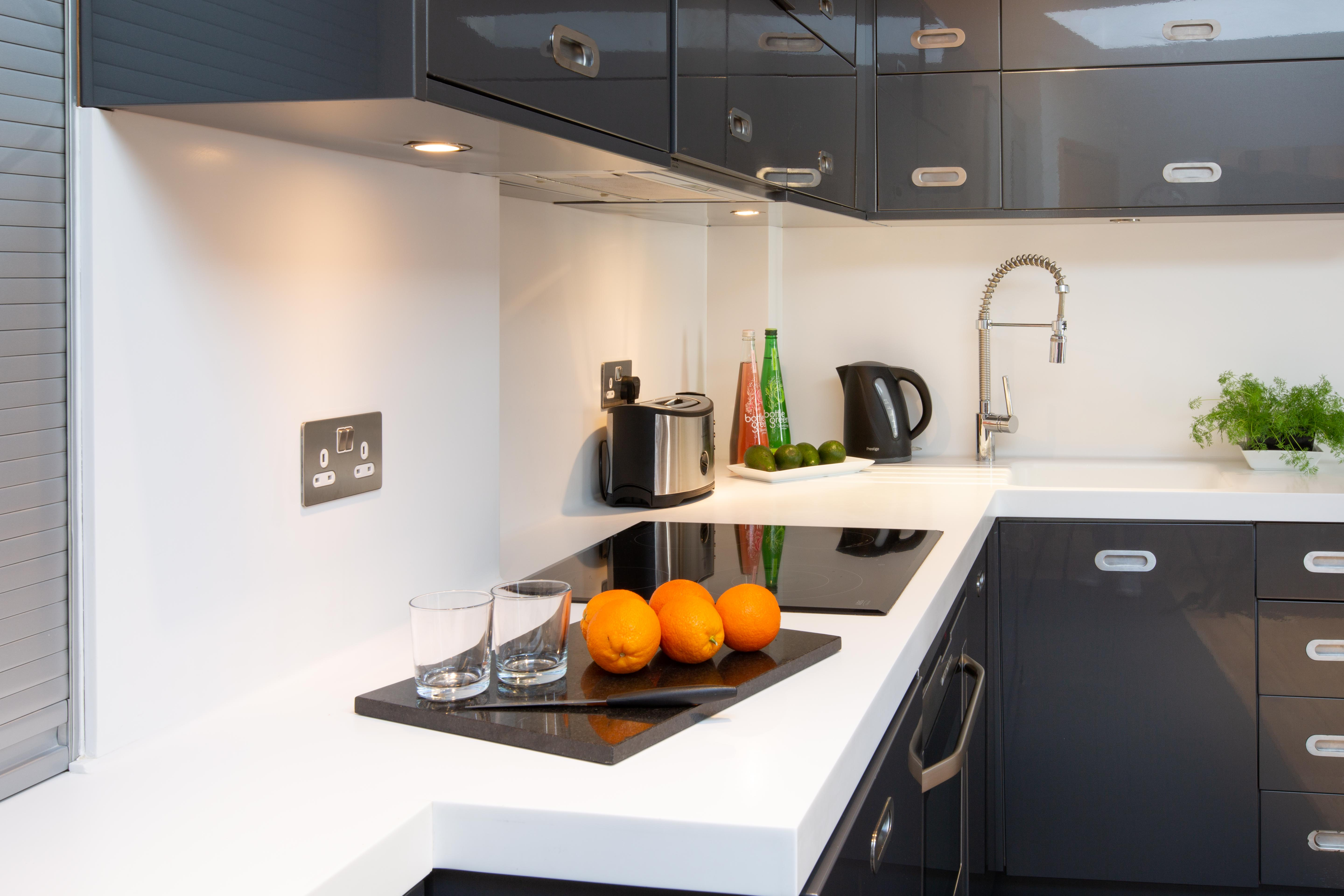 kitchen serviced apartments modern St Albans website accommodation