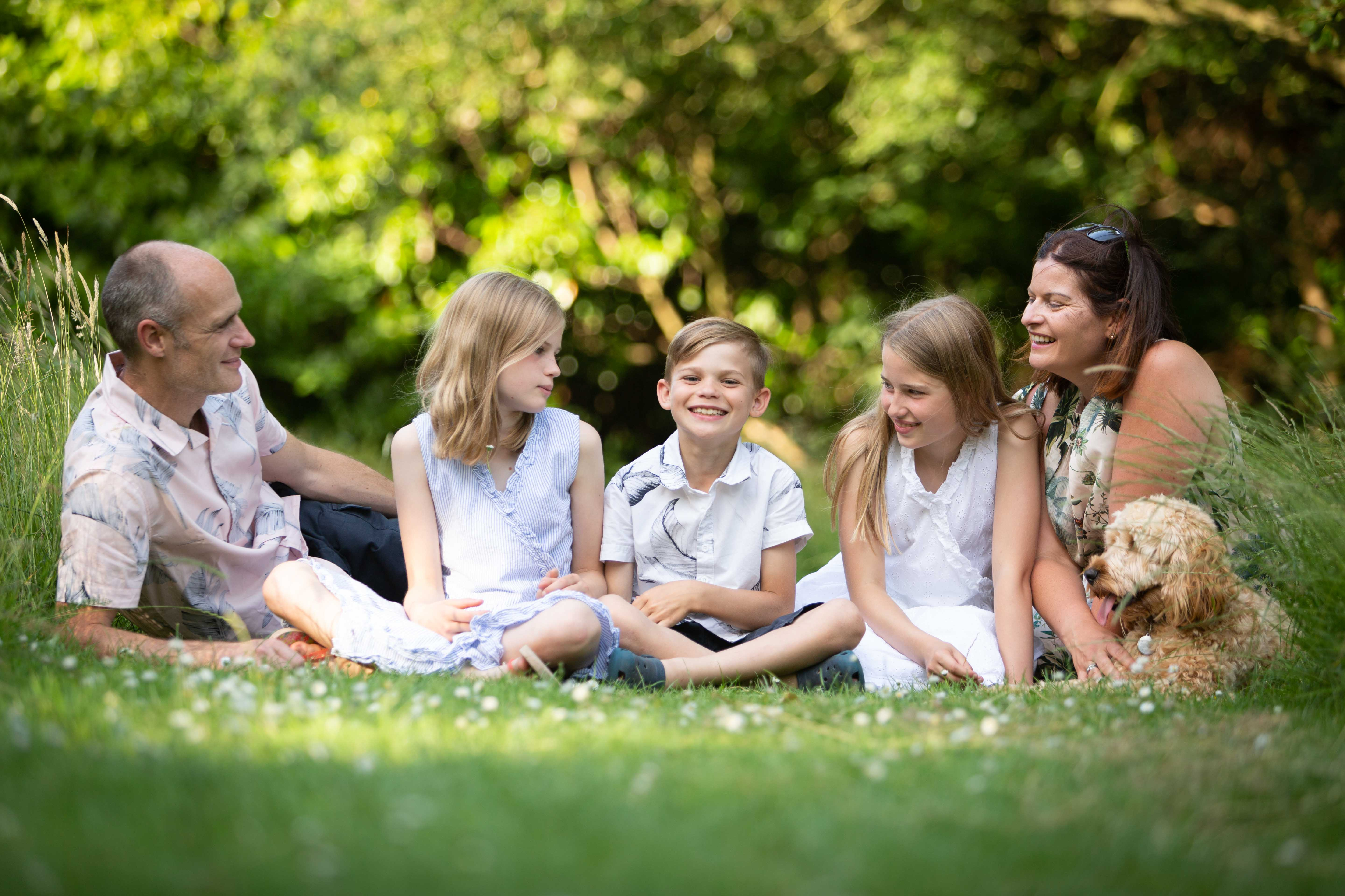 summer family photoshoot Highfield Park St Albans