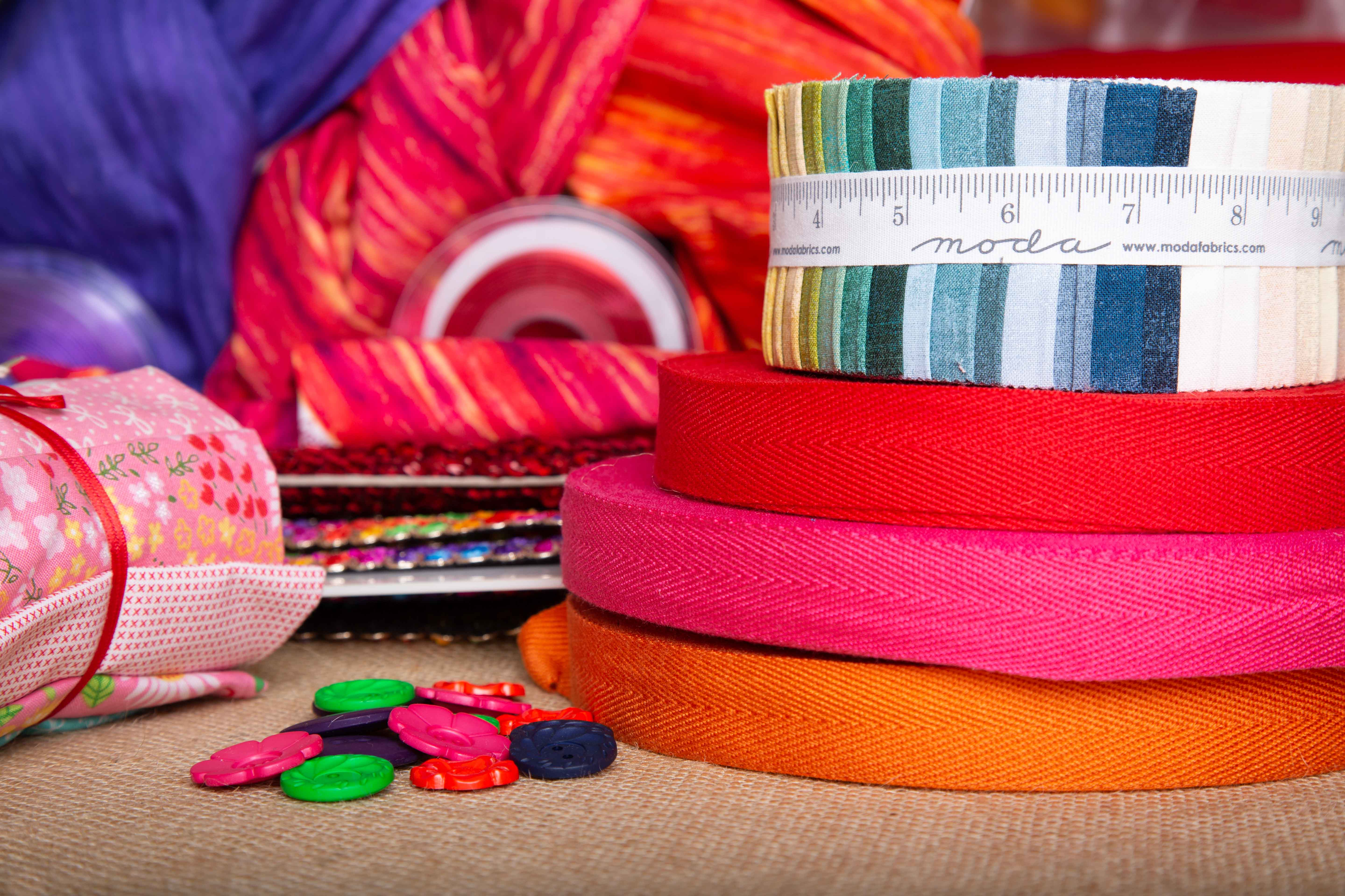 fabrics St Albans website photography photos bright colours