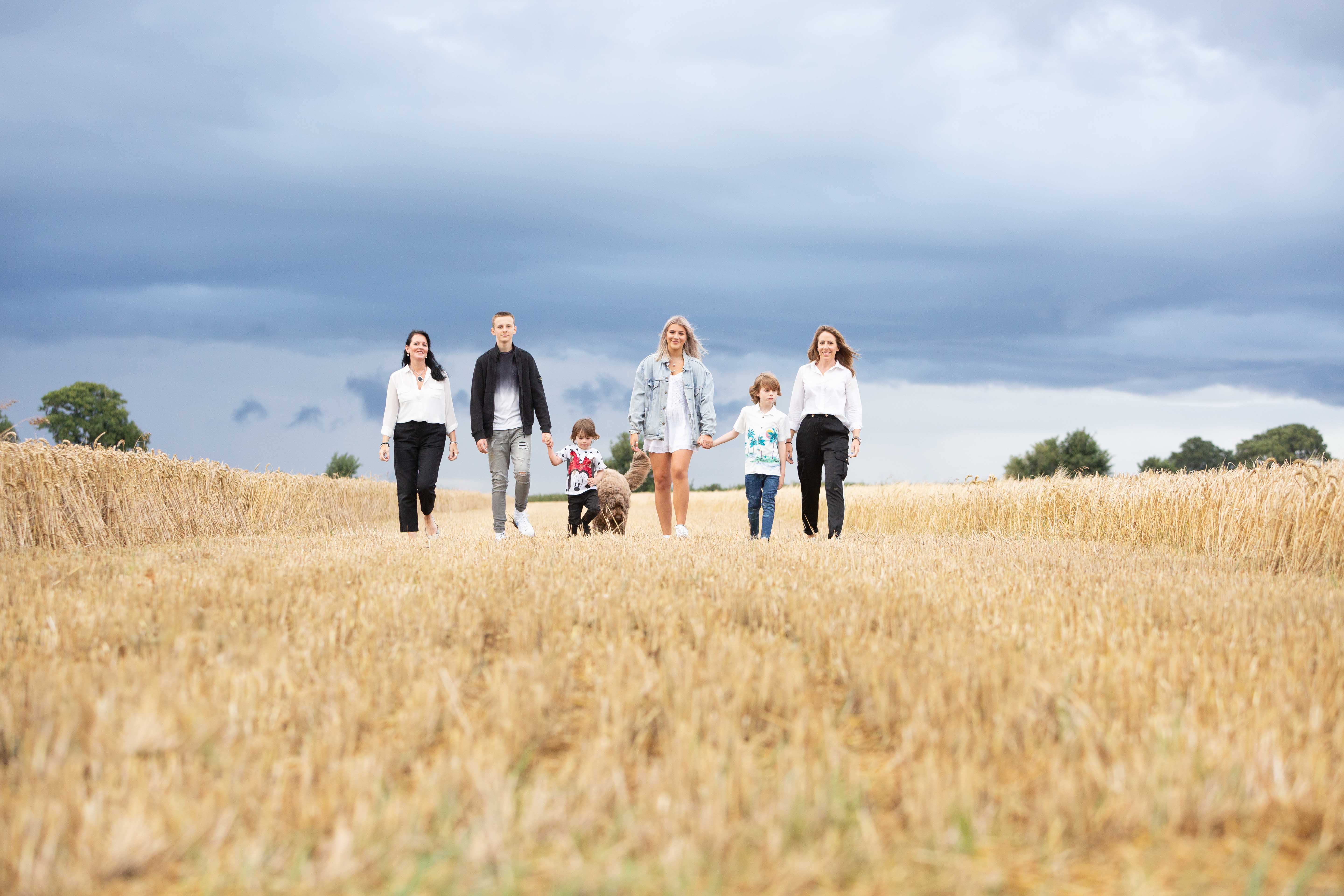 family photo shoot cornfield St Albans