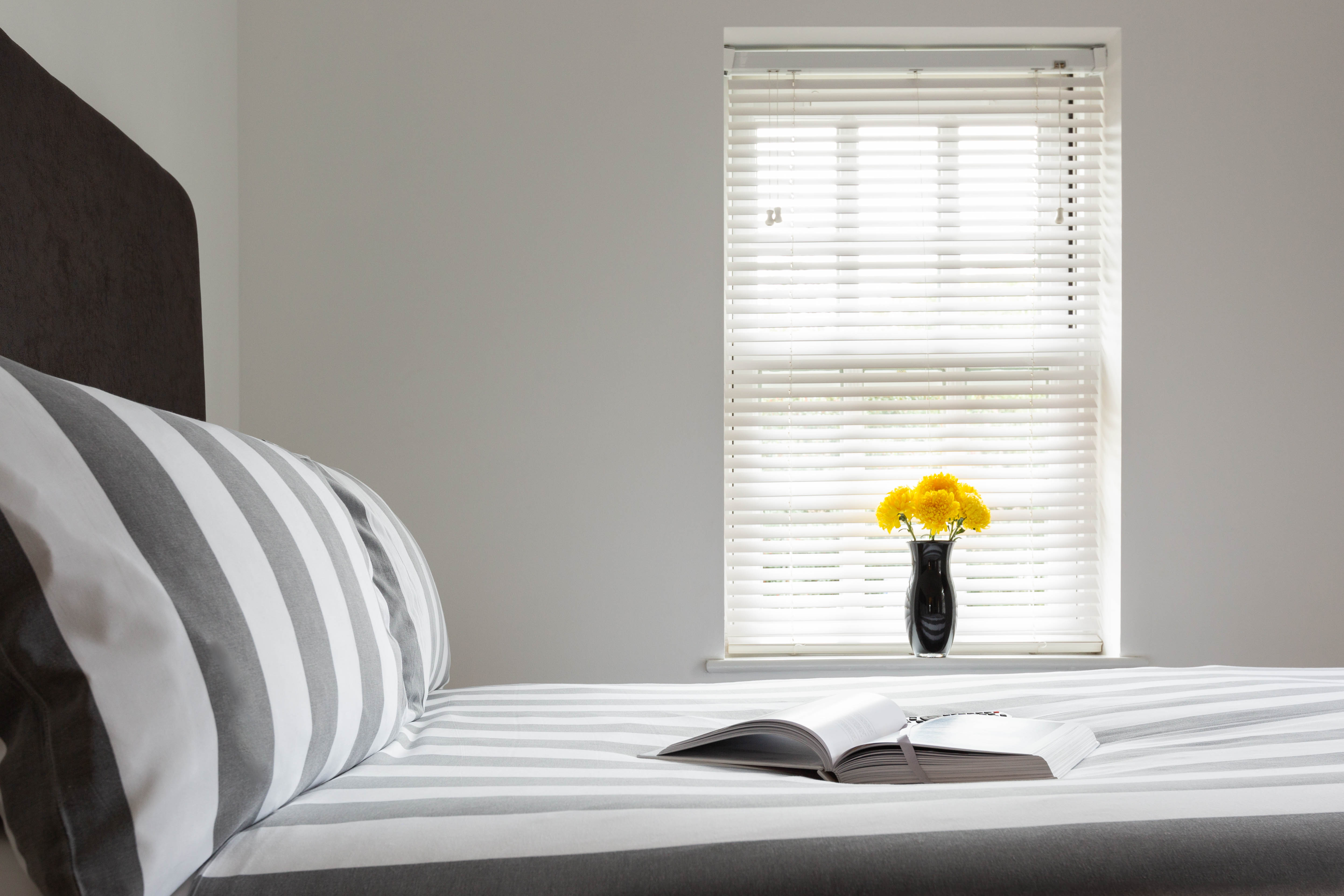 bedroom monochrome serviced apartments St Albans website