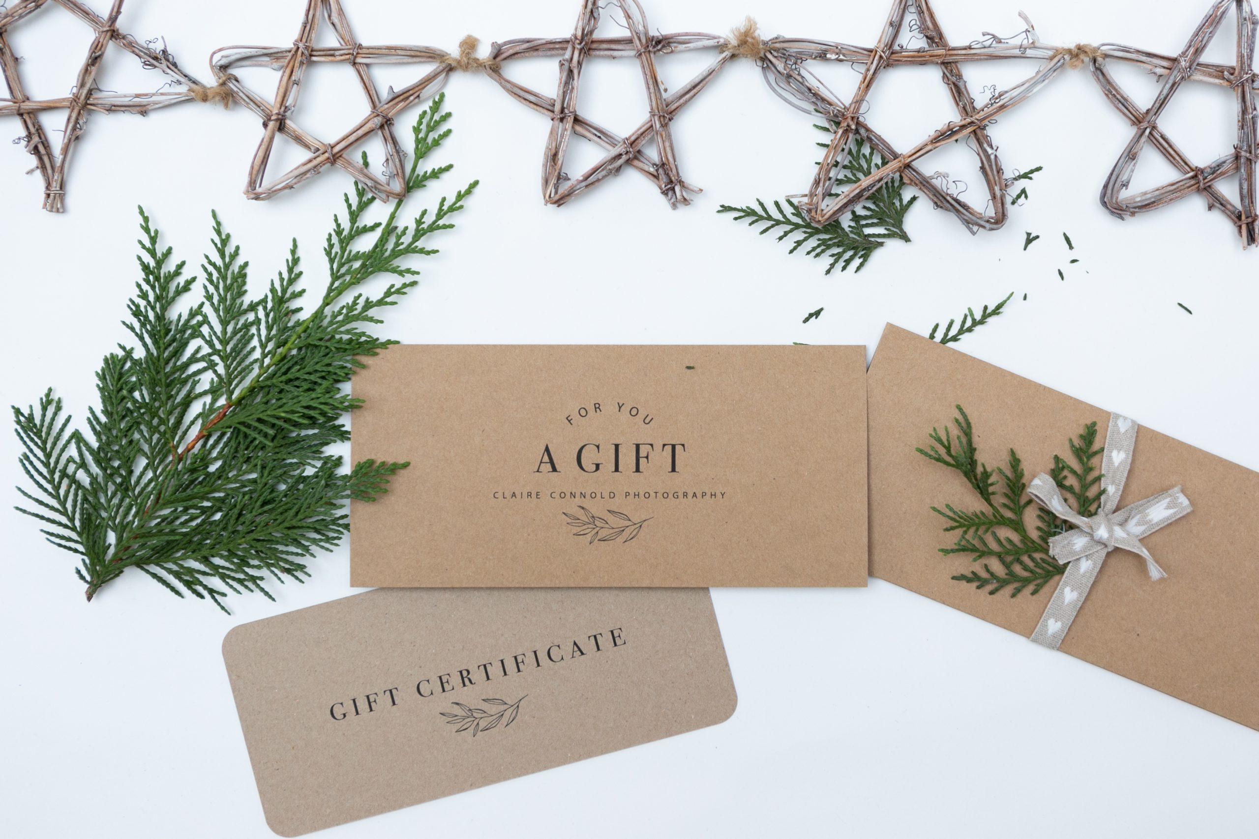 photo Christmas gift voucher